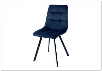 Стул CHILLI SQUARE BLUVEL-86 NAVY BLUE велюр
